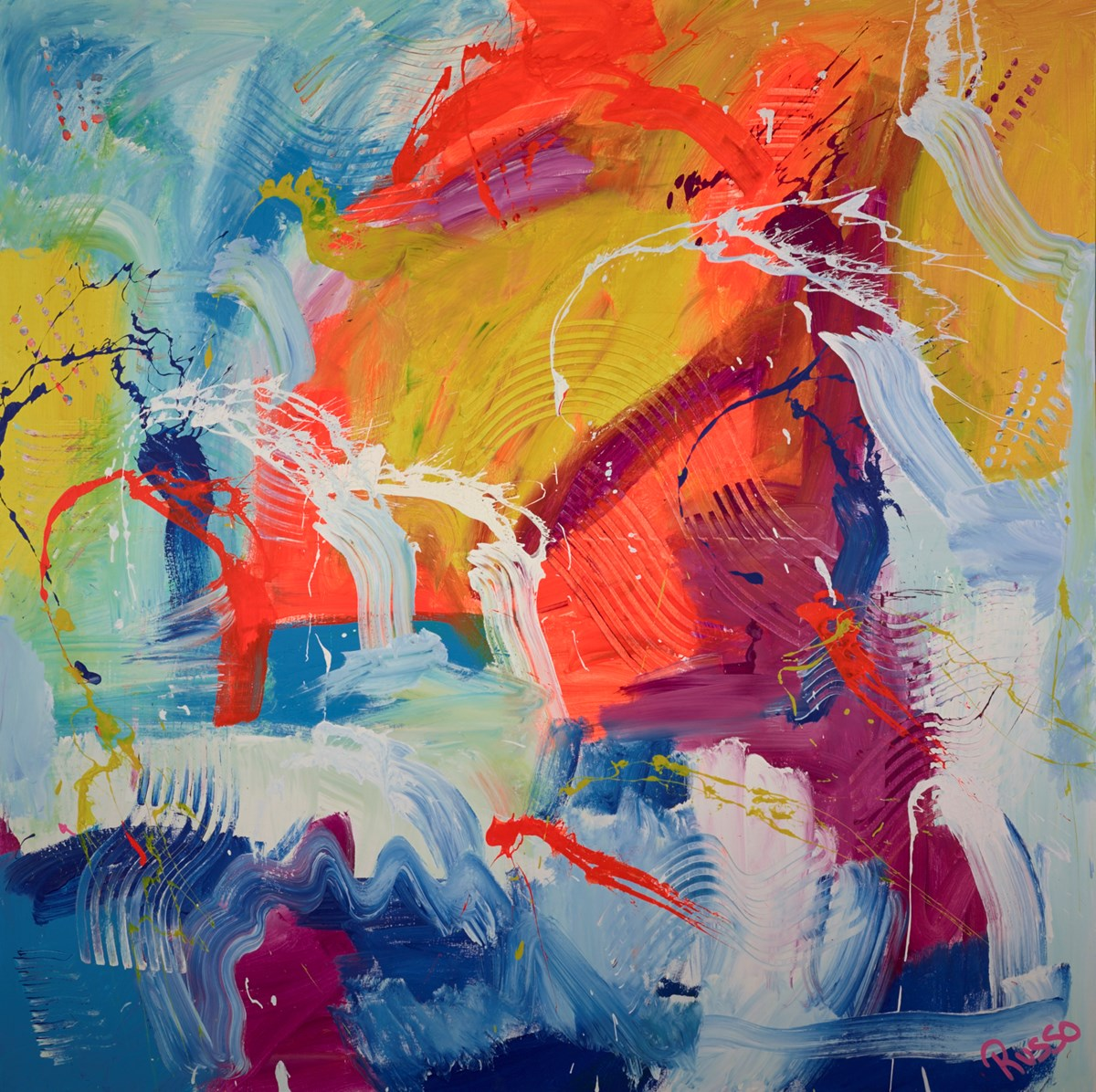 Positive Vibrations -Third World by antonio russo -  sized 64x64 inches. Available from Whitewall Galleries